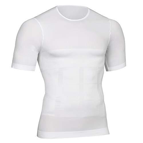 FeelinGirl Tank Top Slimming Vest Tight Body Shaper Tummy Underwear Men Waist Trimmer Compression Shirt,XL