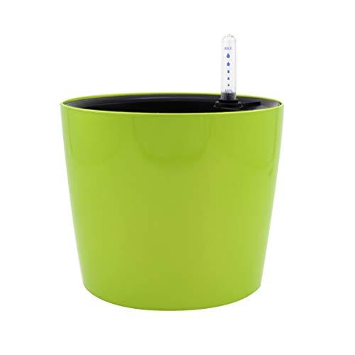 Yardwe Pot de Fleurs Rond avec arrosage Automatique et Affichage du Niveau d'eau Facile à Utiliser Vert