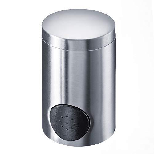 Westmark Dispensador de edulcorante, Altura 8.6 cm, Acero inoxidable/ABS, Plata mate/negro, 65172260