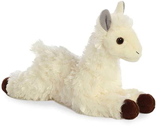 Aurora, 31744, Mini Flopsies, Peluche de Llama, 8 Pulgadas, Color Blanco