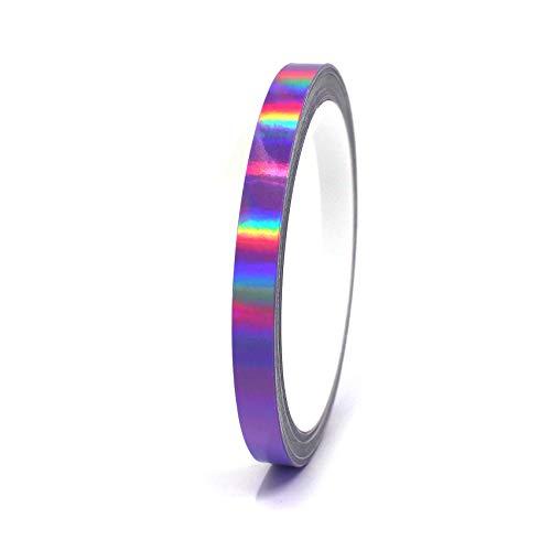 "Finest Folia Vinyl Stripe Holograph Tape Pinstriping Striping Sticker 33ft Car Motorcycle Bike RC Car Truck Boat Decal (Hologram Purple, 0,275"")"