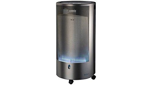 ROWI calentador de gas Blue Flame, color plateado, 4200 vatios, PURE Premium++