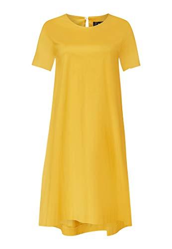 HALLHUBER A-Linien-Kleid modisches Damen Freizeit-Kleid im einfachen Look Freizeit-Kleid Sommer-Kleid Gelb, Größe:34