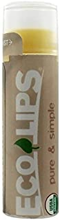 Eco Lips Pure & Simple Lip Balms Coconut 0.15 oz. tubes [Health and Beauty] by Eco Lips