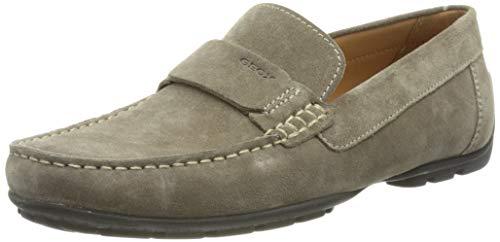 Geox Men's U Moner A Loafer Flat, Dove Grey, 8.5 UK