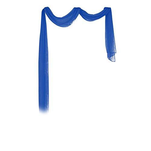 Andouy 1Pcs Voile Curtain Swags Pelmet Valance Net Curtains Voile Swag 300cm x 90cm
