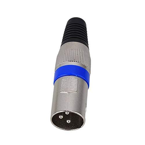 SHENMQ 10PCS Blauw Vernikkeld 3 pin XLR Audio Kabel Connector MIC Mannelijke Plug Microfoon Adapter