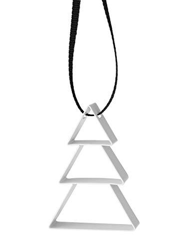 Stelton - Figura Ornament - Weihnachten - Weihnachtsbaum - Stahl mit Farblackierung - Weiß - Klein - W: 4cm x H: 5,5cm x Ø: 1,3cm