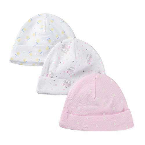 LACOFIA Neugeborenes Baby Jungen Mädchen Beanie Hut Unisex Kleinkind Baumwolle Gedruckt Mütze 0-3 Monate
