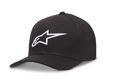 Alpinestar Ageless Hat Gorra Flexfit Visera Curva Logo Bordado 3D, Hombre, Black/White, S/M