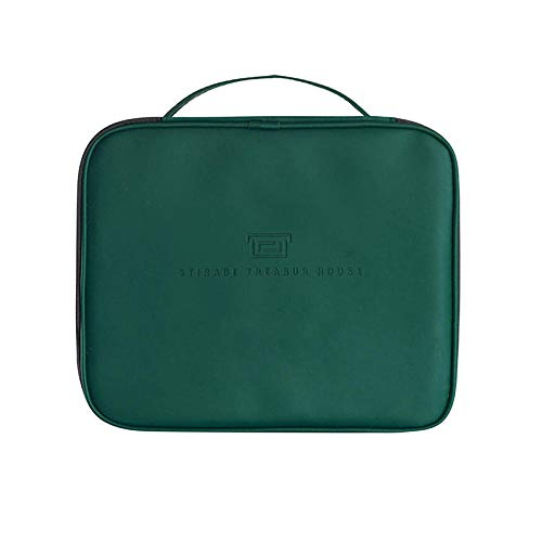 Cosmetic Bag Women Travel for Makeup Toiletries Organizer Waterproof Female Storage Cases Pouch Beauty Case-Green_24_x_21_x7.5_cm