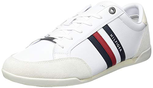 Tommy Hilfiger Herren Corporate Material Mix Cupsole Sneaker, weiß, 44 EU