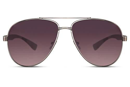 Cheapass Sonnenbrillen Pilot Schattierungen UV400 Silber Gun Metall Gestell und Linsen mit Farbverlauf Männer Frauen