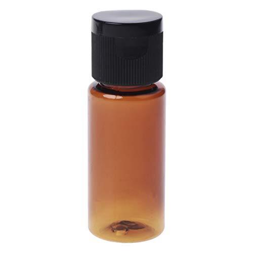 JERKKY Bouteille de Voyage, 15 Millilitre Travel Vide Flip Cap Bottle Makeup Emollient Water Perfume Oil Container Oil Black