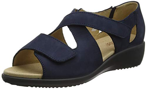 Hotter Damen Offene Sandalen mit Keilabsatzz, Blau (Navy 031), 37 EU (4 UK)