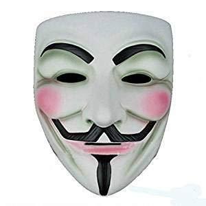 OUTLETISSIMO Maschera Mask V for Vendetta Colore Bianco per Carnevale Halloween Anonymus