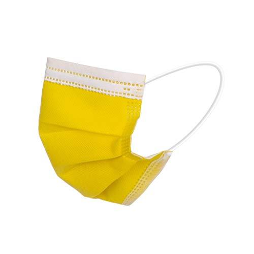 Lulupi 50 Stück Einweg Erwachsene Mundschutz Einmal 3-lagig Staubs-chutz Mund und Nasenschutz Multifunktionstuch Atmungsaktiv Bandana Maske Halstuch in vielen Farben,für Damen und Herren
