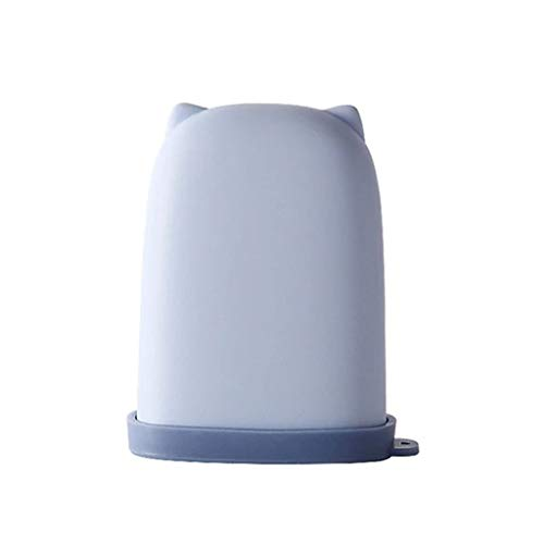 ZAIZAI Caja de jabón de Silicona portátil con Cubierta Lindo al Aire Libre Viaje jabón Proteger Caja baño jabón a Prueba de Agua (Color : A)