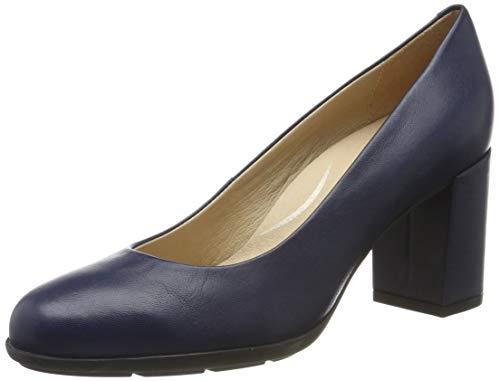 Geox D New Annya A, Zapatos de Tacón Mujer, Azul (Blue C4000), 36.5 EU