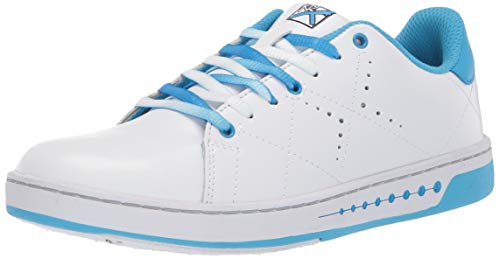 KR Strikeforce Women's Gem Bowling Shoes, White/Blue, Size 6.5