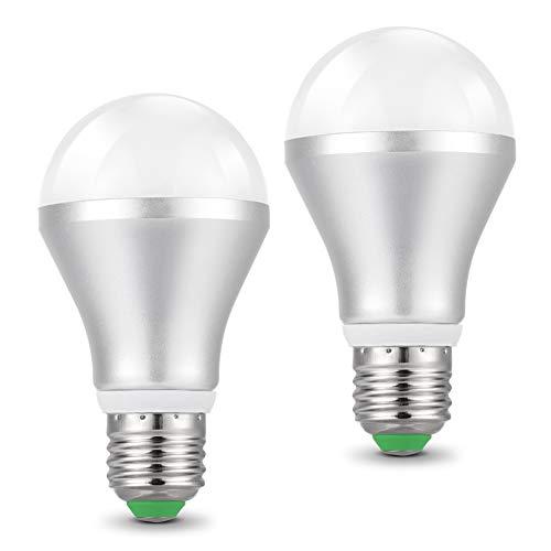 LED Lampe mit Tageslichtsensor, E27 Dämmerungssensor Leuchtmittel, 5W 450LM Kaltweiß 6500k, Automatische On/Off Led Glühbirne für Korridor Garten Treppe Garten - 2 Stück