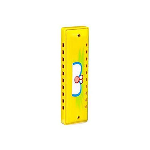 Kinder Mundharmonika, mundgeblasenes Klavier aus Holz Blasinstrument, Spielen Musik Aufklärung Spielzeug EIN wunderbares Geschenk ( Color : Yellow )