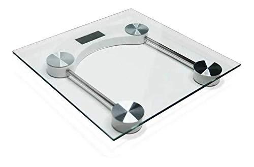 Balança de Pesagem Digital Vidro Temperado 180kg Quadrada