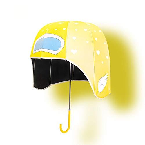 unknow Kreative Nette Eltern-Kind-Regenschirm, Sonnenhut Helm Regenschirm UV-Schutz Kinder Regenschirm Und Erwachsenen Regenschirm