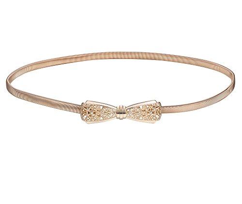 BABEYOND Damen Metall dekorativen Gürtel dünnen Gürtel elastischen Taille Strap Stretchy Gürtel für Kleider (Style-4)