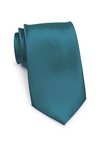 PUCCINI schmale Krawatte│6cm skinny slim Tie/Hochzeitskrawatte/Plastron/Schlips │ uni/einfarbig: Petrol