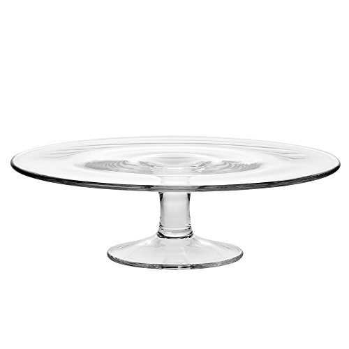 KROSNO 764-1 Pedestal Glass Cake Plate, 30 cm (11.8 in.), Clear