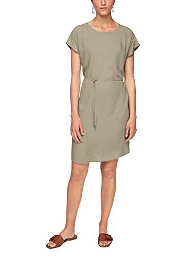 s.Oliver Damen Kleid mit Rückenausschnitt summer khaki 40