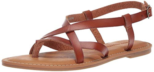 Amazon Essentials Women's Casual Strappy Sandal, tan, 9 B US