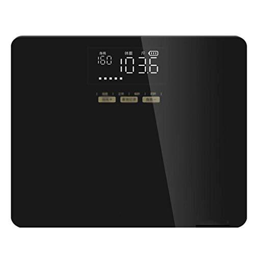 ZLZZY Smart Home - Balanza electrónica Recargable para baño, Pantalla táctil, Pantalla Digital, balanza electrónica de 330 Libras