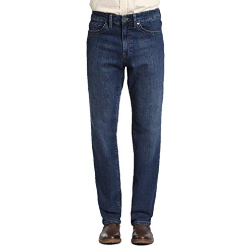 34 Heritage Men's Charisma Comfort Rise Relaxed Straight Leg Jeans, Mid Comfort 44 x 34