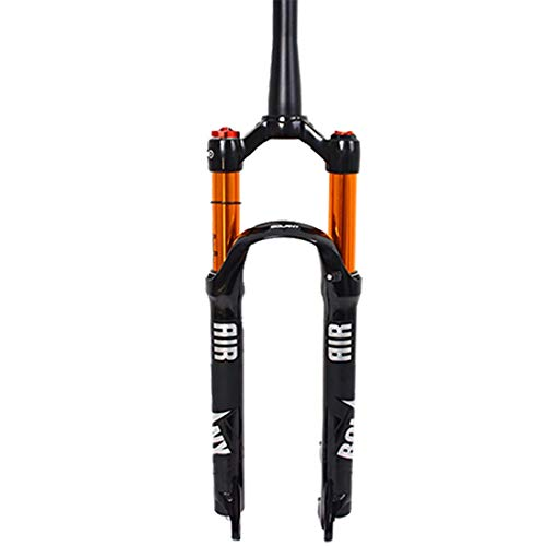 Horquillas para Bicicleta De Montaña 26/27.5/29 Air, Tubo Recto Cónico 28.6Mm Qr 9Mm Travel 120Mm Horquillas MTB Manuales/con Bloqueo De Corona, Amortiguador De Gas Ultraligero para Bicicleta
