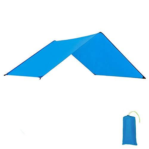 GEERTOP Zeltböden Schutzplane Zeltplanen Zeltunterlage Polyester 1-4 Personen Leichte Wasserdicht für Zelt Wanderungen Camping Picknick (Blau, 260x210cm)
