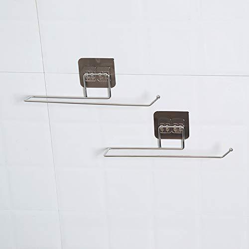 BECCYYLY Toallero de baño Toallero de Papel higiénico Toallero de baño Puerta del Lavabo del Inodoro Organizador Colgante Soporte de Gancho de Almacenamiento