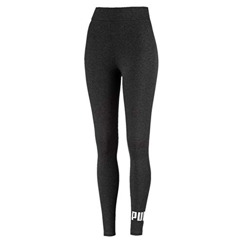 PUMA Damen Hose ESS Logo Leggings, Dark Gray Heather, M, 851818