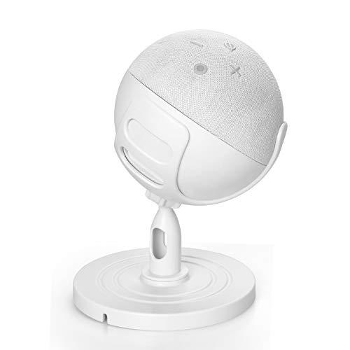 Supporto da Tavolo per Altoparlante di design con rotazione di 360°compatibile con il Nuovissimo Altoparlante Intelligente Echo Dot (4a generazione), Lega di alluminio,Accessori per Dot 4 (Grigio)