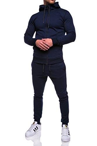 MT Styles Trainingsanzug Zip Jogginganzug Sportanzug R-964 [Dunkelblau, XS]