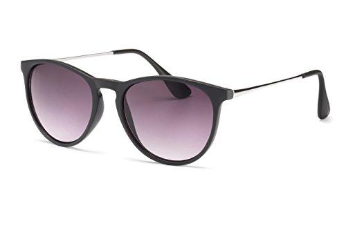 Filtral Sonnenbrille/Runde Retro-Sonnenbrille in Pantoform für Damen & Herren in Schwarz mit Verlaufglas F3021909
