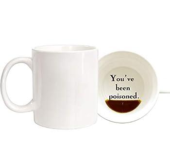 CIOEY Funny Coffee Mug Present-YOU'VE BEEN POISONED-Novelty Christmas Holiday Fun Mug Gifts For Men Women Cool Gag Ceramics White 11 Oz