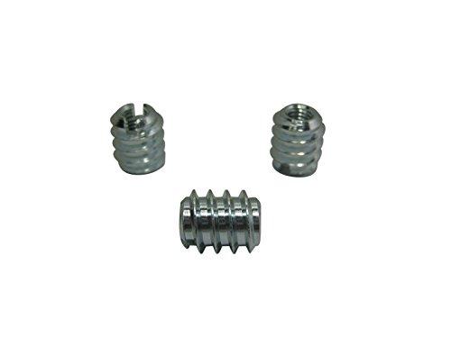40 x Einschraubmuttern Einschraubmuffen M5 Stahl verzinkt Länge 12mm SAMWERK®