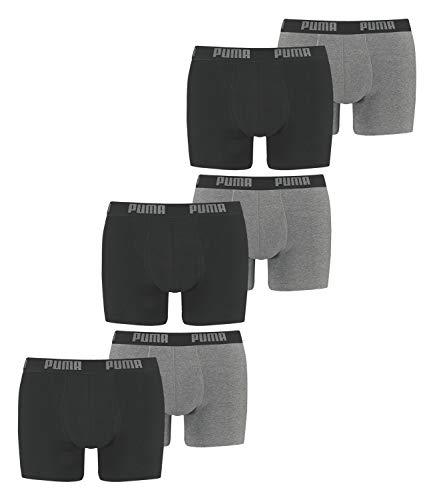 PUMA Herren Boxershorts Unterhosen 521015001 6er Pack (New Dark Grey Me/Black, XL)