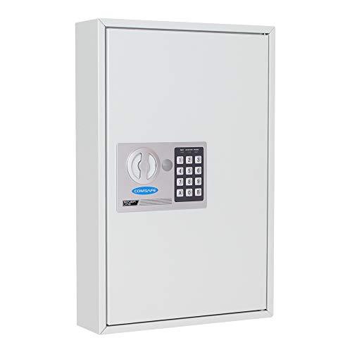Rottner Schlüsselschrank S 64 EL, Elektronikschloss, Schlüsselkasten, Schlüsselschrank, Wandmontage, Schlüsselanhänger