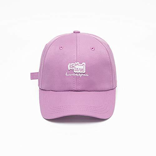 sdssup Nueva Letra Bordado Parche Gorra de béisbol Coreana Personalizada Hombres y Mujeres Calientes Gorras Curvas Salvajes Sombrero púrpura Ajustable