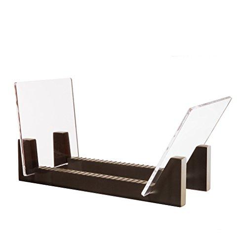KAIU Schallplatten Aufbewahrung - Kiefernholz mit robustem transparentem Acrylhalter - Premium Design Geeignet 12