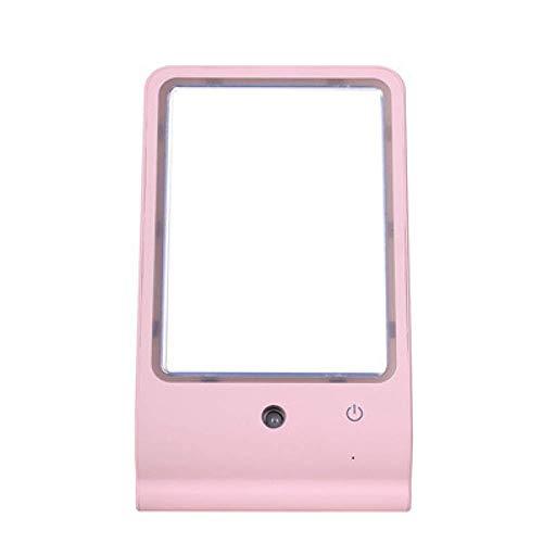 QAQWER Mini-vierkante luchtbevochtiger, spray make-up spiegel, waterteller, geluidsloze make-upspiegel, luchtbevochtiger, geschikt voor slaapkamer en kantoor
