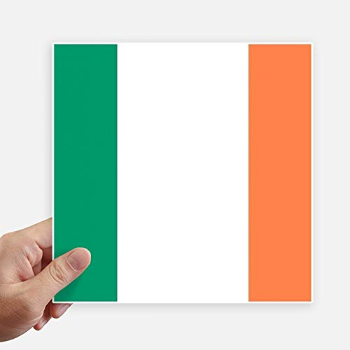 DIYthinker Drapeau National Irlande Europe Country Square Autocollants 20CM Mur Valise pour Ordinateur Portable Motobike Decal 4Pcs 20Cm X 20Cm Multicolor